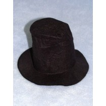 "Hat - Hobo - 6"" Black"