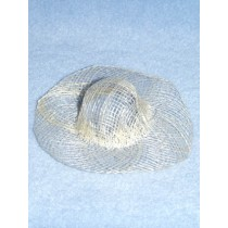 "Hat - Sinamay - 6"" Natural"