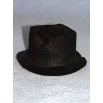 "Hat - Snowman_Hobo - 4"" Black"