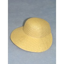 "Hat - Straw Bonnet - 6 1_2"" Natural"