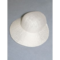 "Hat - Straw Bonnet - 6 1_2"" White"