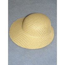 "Hat - Straw Bonnet - 6"" Natural"