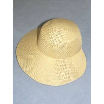 "Hat - Straw Bonnet - 9 1_4"" Natural"