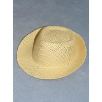 "Hat - Straw Fedora - 3 1_2"" Natural"
