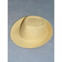 "Hat - Straw Fedora - 3 1_2"" Natural"