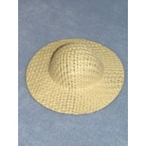 """Hat - Straw Picture - 3 1_2"""" Natural"""