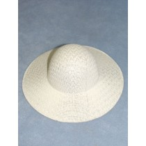 "Hat - Straw Picture - 8 1_2"" White"