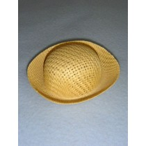"Hat - Straw Roller - 3 3_4"" Natural"