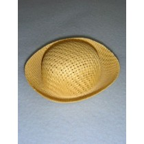 "Hat - Straw Roller - 4 3_4"" Natural"