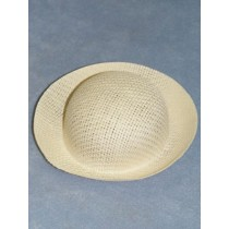 "Hat - Straw Roller - 5 3_4"" White"