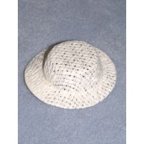 "Hat - Straw Skimmer - 2 1_2"" White"