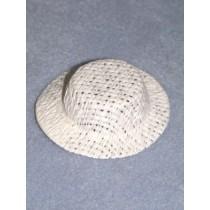 "Hat - Straw Skimmer - 2 1_2"" White"