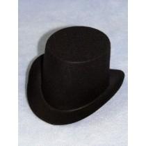 "Hat - Top - 2"" Black"