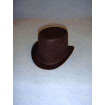 "Hat - Top - 2"" Brown"
