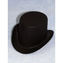 "Hat - Top - 3"" Black"