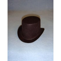 "Hat - Top - 3"" Brown"