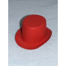 "Hat - Top - 3"" Red"