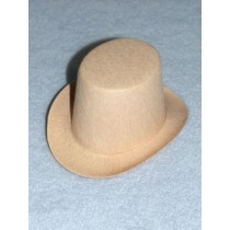 "Hat - Top - 4"" Beige"