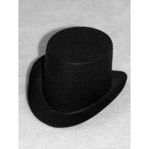 "Hat - Top - 4"" Black"