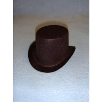 "Hat - Top - 4"" Brown"