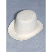 "Hat - Top - 4"" White"