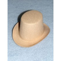 "Hat - Top - 5"" Beige"