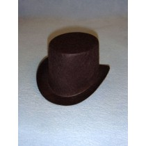"Hat - Top - 5"" Brown"