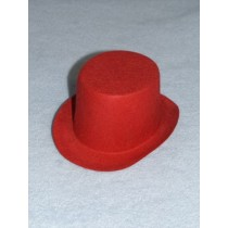 "Hat - Top - 5"" Red"