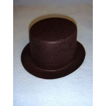 "Hat - Top - 7"" Brown"