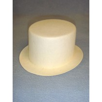 "Hat - Top - 7"" White"