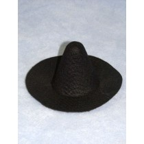 "Hat - Witch - 6"" Black"