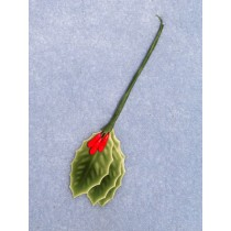 "Holly Leaves - 3_4"" Lacquered Pk_12"