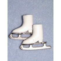 "Ice Skates - 1 1_8"" White - 1 pair"