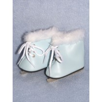 "Skates - Ice - 3"" Light Blue w_Fur"