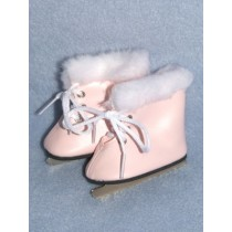 "Skates - Ice - 3"" Light Pink w_Fur"