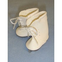 "|Ice Skates w_Ties - 2 1_4"" White"