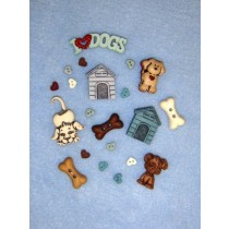 It's a Dogs Life Assorted Buttons