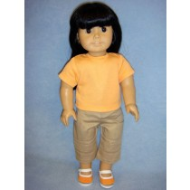 "Khaki Capris for 18"" Doll"