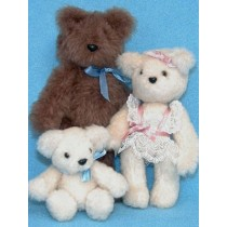 "Kit - Miniature Bear Family -  6"", 5"" & 3"""