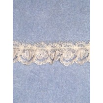 "Lace - 3_4"" Gathered - Ecru - 20 yd pkg"
