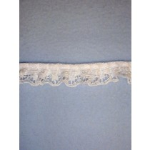 "Lace - 3_4"" Gathered - White - 25 yd pkg"