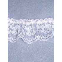 """Lace - Gathered - 1"""" White - 25 yd pkg"""