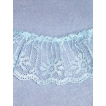 "Lace - Gathered - 2"" Blue - 10 yd pkg"