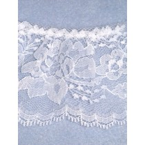 "Lace - Gathered - 3"" White - 10 yd pkg"