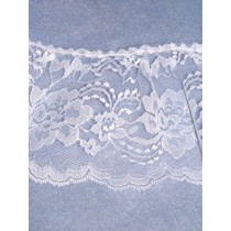 "Lace - Gathered - 4"" White - 10 yd pkg"