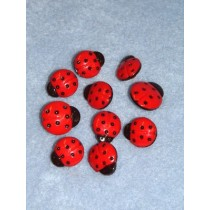 Lady Bugs Button Asst