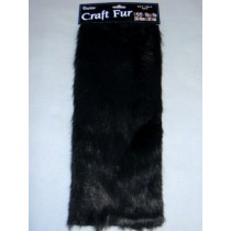 "Luxury Faux Fur - Black 12"" x 15"
