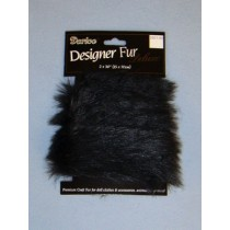 Luxury Faux Fur Trim - Black