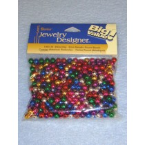Metallic Beads  6mm Round 450 pcs