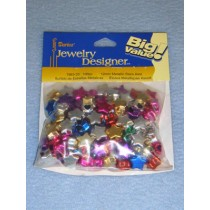Metallic Star Bead Assortment 12mm 100 pcs
